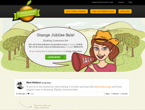 Alojamiento web con Small Orange